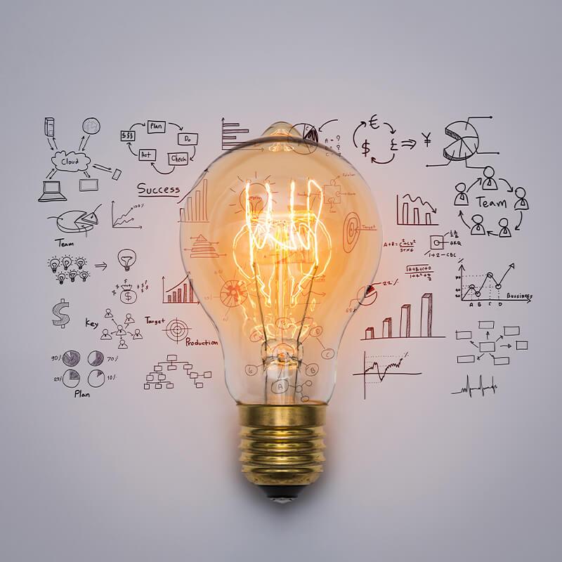 business plan template light bulb 1